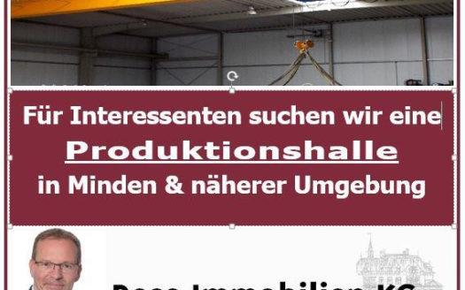 Produktionshalle mit Kranbahn